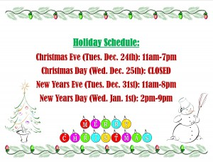 Paesello's holiday hours are as listed here.
